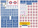 4mm Scale London Underground Station Signs